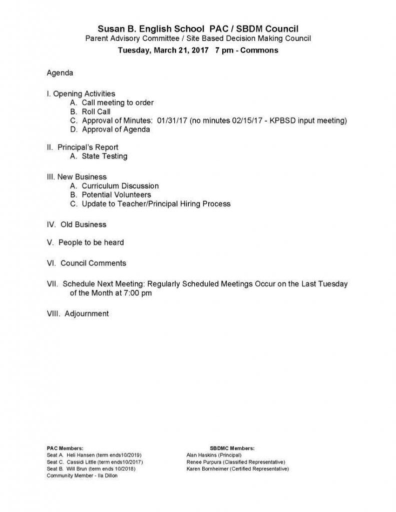 170321 PAC Agenda