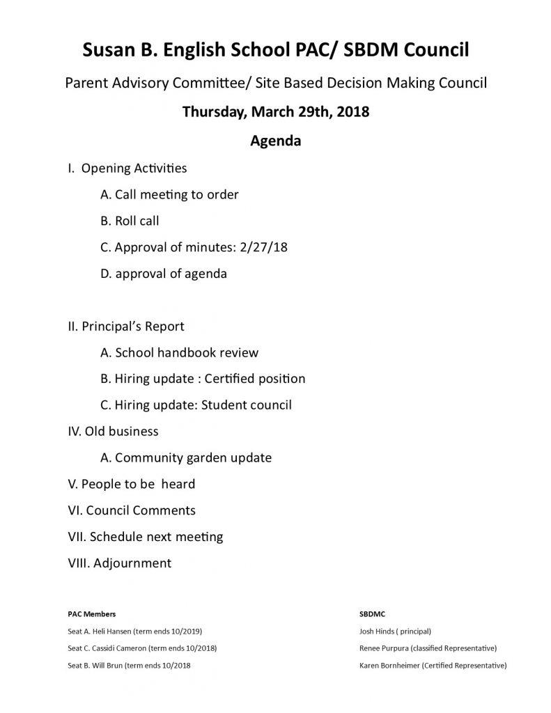 180329 PAC Agenda